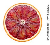 red blood orange slice isolated ... | Shutterstock . vector #794568322