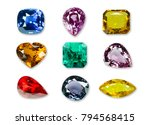 bright gems isolated on a white ...   Shutterstock . vector #794568415