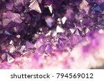 inside of amathyst quartz geode | Shutterstock . vector #794569012