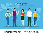 group of young korean people... | Shutterstock .eps vector #794570548