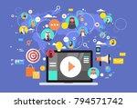 social media communication... | Shutterstock .eps vector #794571742