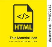 html file with code symbol... | Shutterstock .eps vector #794572162