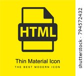 html file extension interface...