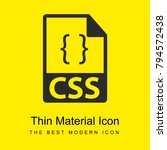 css file format symbol bright...