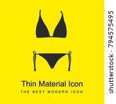 bikini shape bright yellow... | Shutterstock .eps vector #794575495