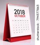 simple desk calendar for... | Shutterstock . vector #794577865
