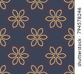 vintage decorative elements in... | Shutterstock .eps vector #794578246