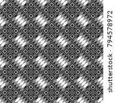 vector seamless rhombus and... | Shutterstock .eps vector #794578972