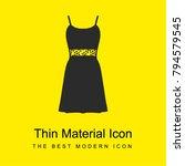 female dress bright yellow...