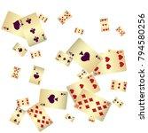 casino. poker card scattered... | Shutterstock .eps vector #794580256