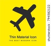 airliner bright yellow material ...