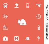 set of 13 editable travel icons....