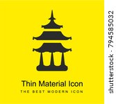 buddhist temple bright yellow...