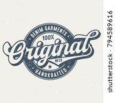 original denim garments   tee... | Shutterstock .eps vector #794589616