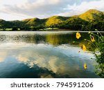 Lake And Hills Scenery In The...