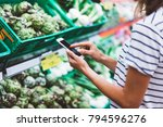 young woman shopping purchase... | Shutterstock . vector #794596276