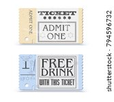 set of retro cinema tickets or... | Shutterstock .eps vector #794596732