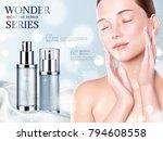 skincare cosmetic ads  moisture ...   Shutterstock .eps vector #794608558