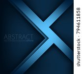 blue triangle and geometric... | Shutterstock .eps vector #794611858