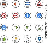 line vector icon set   sign... | Shutterstock .eps vector #794617816