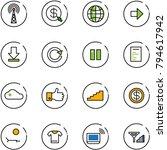 line vector icon set   antenna... | Shutterstock .eps vector #794617942