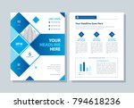annual report  broshure  flyer  ... | Shutterstock .eps vector #794618236