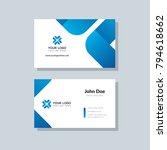 modern business card template... | Shutterstock .eps vector #794618662