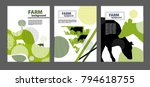 agricultural brochure layout... | Shutterstock .eps vector #794618755