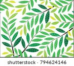 abstract green leaves... | Shutterstock .eps vector #794624146