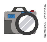 vintage photographic camera | Shutterstock .eps vector #794624656
