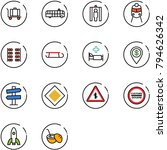 line vector icon set   baggage... | Shutterstock .eps vector #794626342