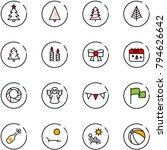 line vector icon set  ... | Shutterstock .eps vector #794626642