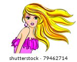 blonde glamour fashion vector... | Shutterstock .eps vector #79462714
