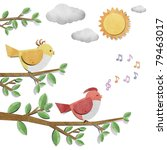 bird recycled  paper craft... | Shutterstock . vector #79463017