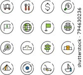 line vector icon set   baggage... | Shutterstock .eps vector #794630236
