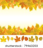 autumn background and... | Shutterstock . vector #79463203