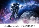 astronaut on space mission | Shutterstock . vector #794634412