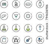 line vector icon set   vial... | Shutterstock .eps vector #794636986