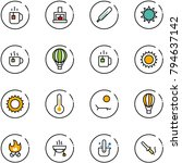 line vector icon set   tea... | Shutterstock .eps vector #794637142