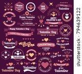 valentine template banner... | Shutterstock .eps vector #794639122