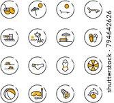 line vector icon set   coconut... | Shutterstock .eps vector #794642626