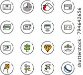 line vector icon set   credit... | Shutterstock .eps vector #794642656