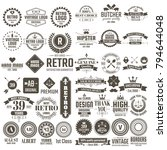 vintage retro vector logo for... | Shutterstock .eps vector #794644048