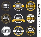 vintage retro vector logo for... | Shutterstock .eps vector #794644072