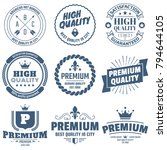 vintage retro vector logo for... | Shutterstock .eps vector #794644105