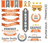 vintage retro vector logo for... | Shutterstock .eps vector #794644132
