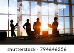 discussing policy of... | Shutterstock . vector #794646256