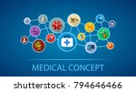 medical flat icon concept.... | Shutterstock .eps vector #794646466