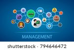 management flat icon concept.... | Shutterstock .eps vector #794646472