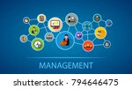 management flat icon concept.... | Shutterstock .eps vector #794646475